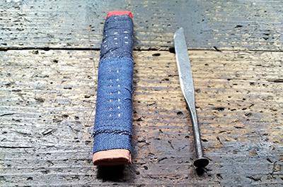 康人さんと智子さんの「ペーパーナイフ作りワークショップ」