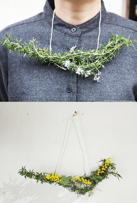 川井有紗さんの首飾り作りワークショップ