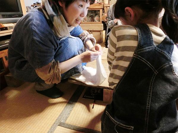 親子のぞうきん縫いワークショップ