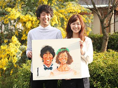 笑達さんの似顔絵大判サイズオーダー会 イメージ